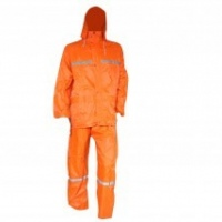 2p rain suit with silver tape