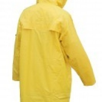 knee length yellow rain coat