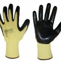 fibre shell nitrile coated gloves