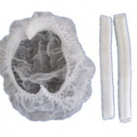 single elastic white mop cap