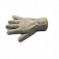 gloves cotton white knitted
